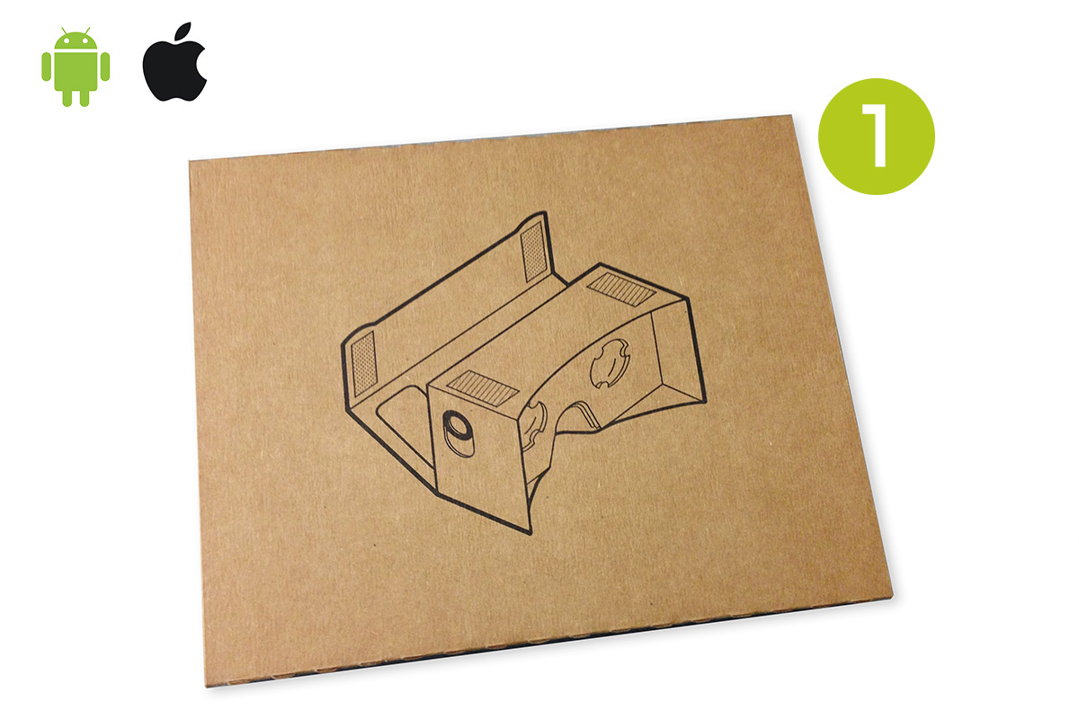 Step One: Place cardboard on a flat surface.